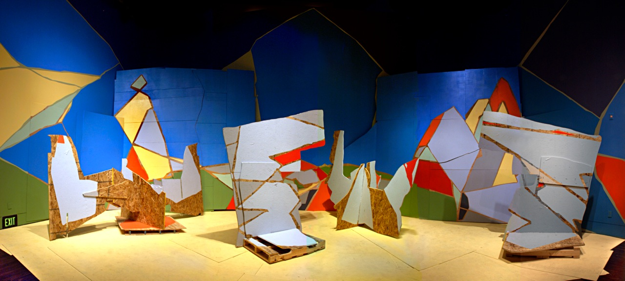 Armada, 2009 Installation at Blanton Museum of Art, Austin, Texas wood, latex paint