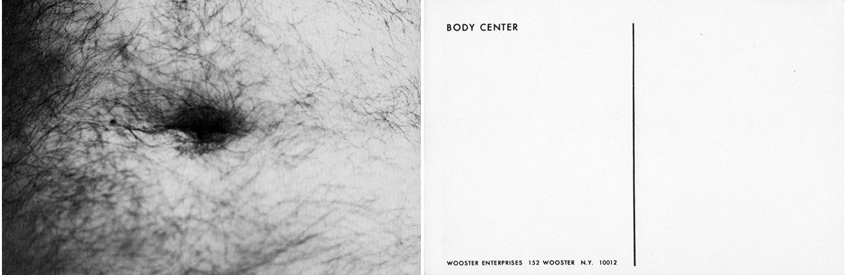 Wooster Enterprises, Body Center Postcard, 1973 3 x 5 inches