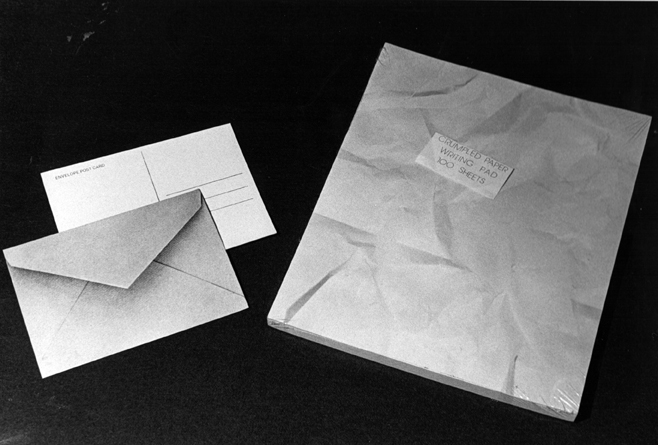 Wooster Enterprises Envelope Postcard and Crumpled Paper Pad, 1977