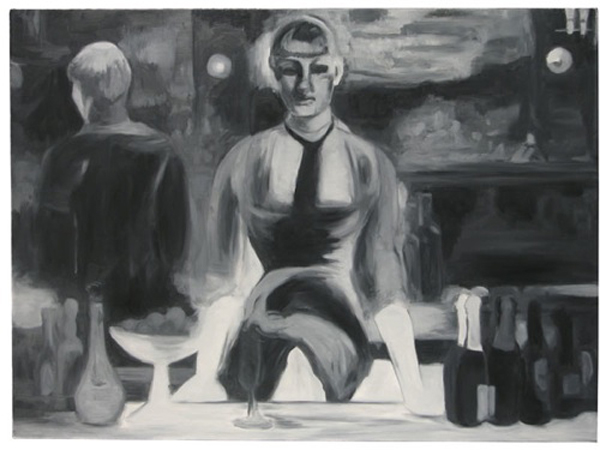 Untitled (The Bar), 2007 oil on canvas 38 x 52 inches