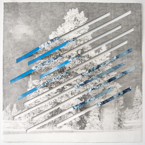 Letha Wilson Reverse Colorado Rip, 2010 graphite on c-print 24 x 24 inches