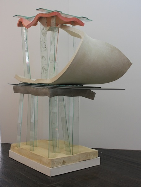 Untitled (Glass Forrest) 2013 glass, cement, polyurethane foam, paint, and tape 77 x 64 x 32 inches