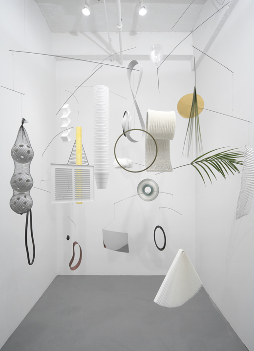Fig. VI: shared forest for ill-formed input, 2009 installation view at Fake Estate 7 x 10 inches