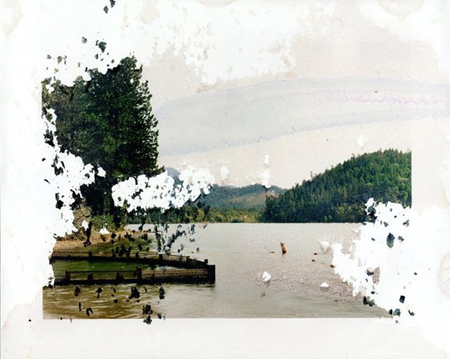 Matthew Brandt Lake Selmac, OR 1, 2008 c-print soaked in Lake Selmac water 16 x 20 inches
