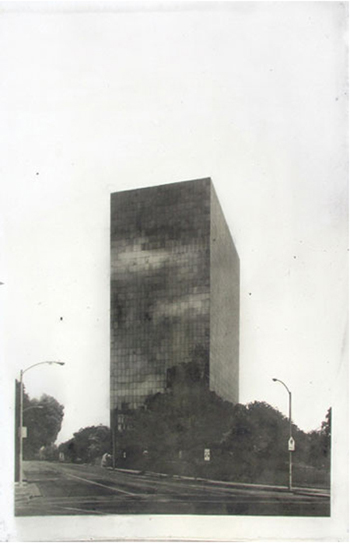 Matthew Brandt Superior Court Dust (North, 6th Floor), 2008 dust from 6th floor renovation on paper, Gum Bichromate print 55 x 35 inches