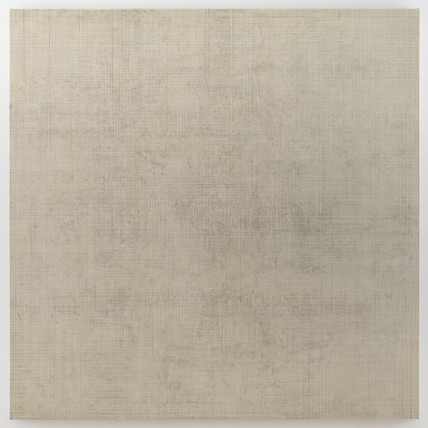Graphite Drawing (2011) rabbit skin glue and graphite on canvas 72 x 72 inches