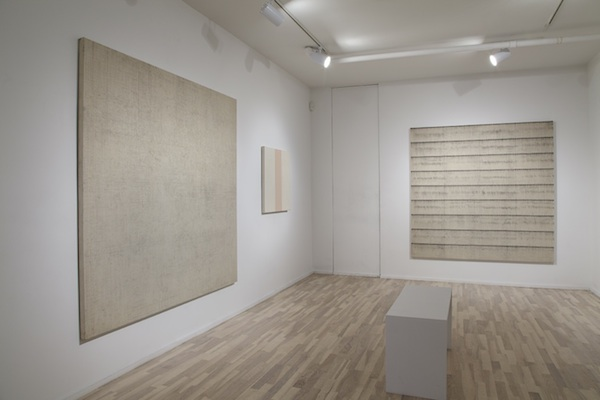 installation view (from left to right): Graphite Drawing, Untitled, and Charcoal Drawing