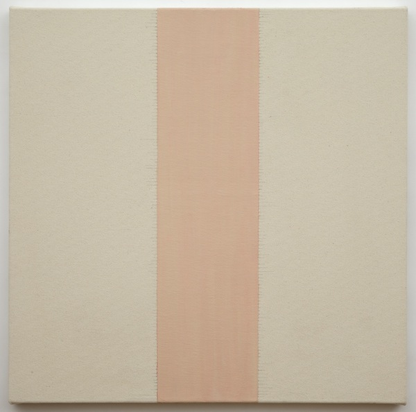 Untitled (2012) rabbit skin glue, graphite, and oil paint on canvas 30 x 30 inches