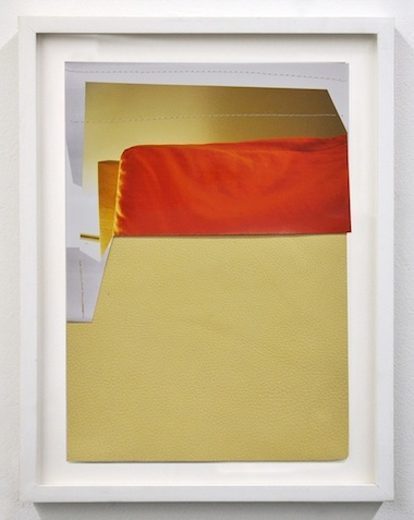 Bedside Lamp, 2014 photograph, leather, and thread 11 3/4 x 8 inches (13 x 11 1/2 inches framed)