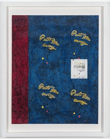 Anthony Campuzano Note from Mother (versions #2), 2014 colored pencil, ink, and photograph on board 20 x 15 1/2 inches