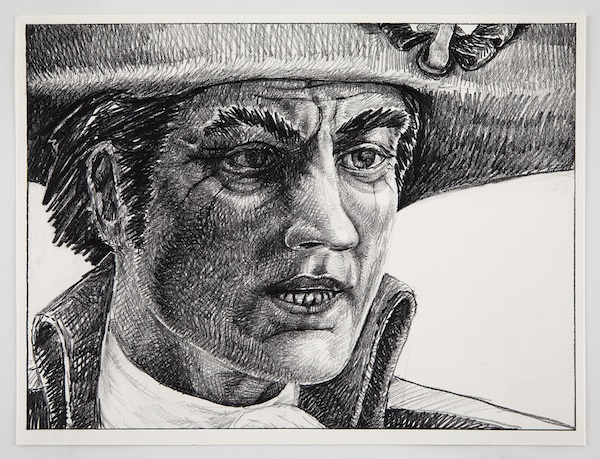 INFERNO: Chapter Three Mad Anthony at Dusk, 2012 graphite on paper 11 x 15 inches framed