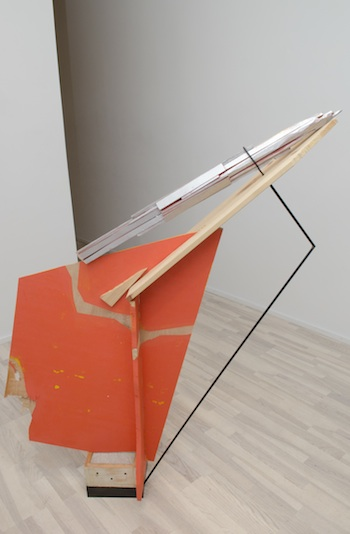 Monument, 2009-2012 steel, wood, concrete, latex and enamel paint 55 x 44 x 9 1/2 inches