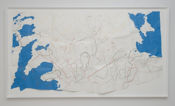 Preemptive Strike, 2009 archival color paper and polyvinyl adhesive 42 x 80 1/2 inches