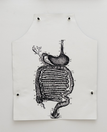 George Maciunas Stomach Anatomy Apron, 1973 20 x 16 inches