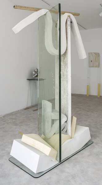 Jane Fonda, 2014 glass, diving board, cement, polyurethane foam, tint, aluminum, and Sharpie 77 x 48 x 26 inches