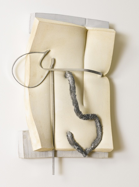 Untitled (Tan) 2014 cement, dye, polyurethane foam, glass, aluminum, and tape 33 x 26 x 6 inches