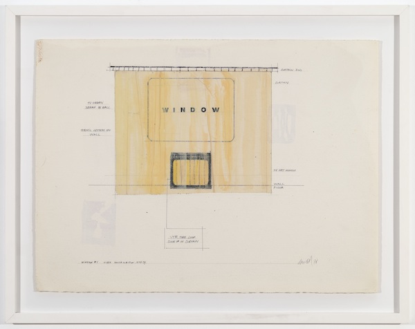 Jaime Davidovich TV and Tape Project Window #1, 1978 tape and graphite on paper 22 x 30 inches