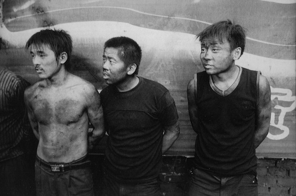 Three Mechanics, Edge of Taiyuan, 2006 gelatin silver print 8 x 10 inches