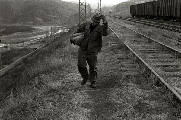 Gleaning Coal from the Trains, W. of Datong, 2007 gelatin silver print 8 x 10 inches