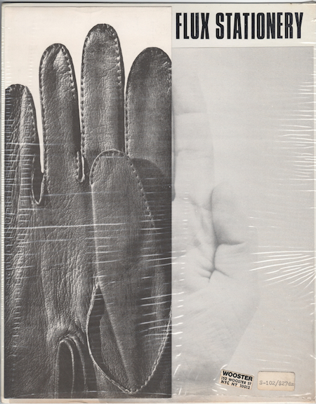 George Maciunas Hand in Glove Stationary Set, 1968 10 1/2 x 8 1/2 inches