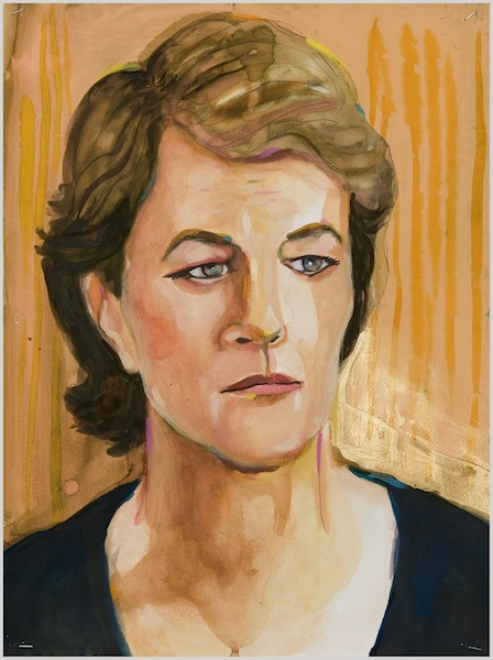 Untitled (Charlotte Rampling), 2013 acrylic on paper 19 3/4 x 14 3/4 inches