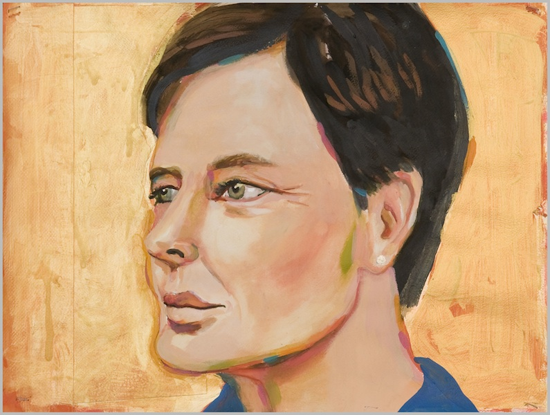 Untitled (Isabella Rossellini), 2013 acrylic on paper 14 3/4 x 19 3/4 inches
