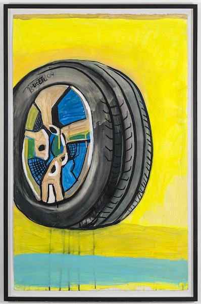 Karen Heagle Tire, 2004 acrylic on paper 41 x 26 inches