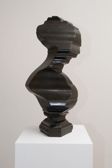 Nick Hornby Vanity working on a weak head produces every sort of mischief (Jane Austen), 2011 bronze 17 x 7 1/4 x 8 inches, edition of 6