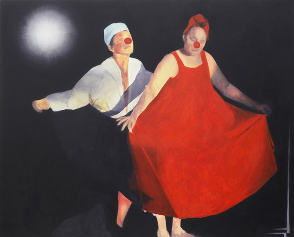 Untitled (clown dance), 2012-2013 oil on canvas 56 x 72 inches