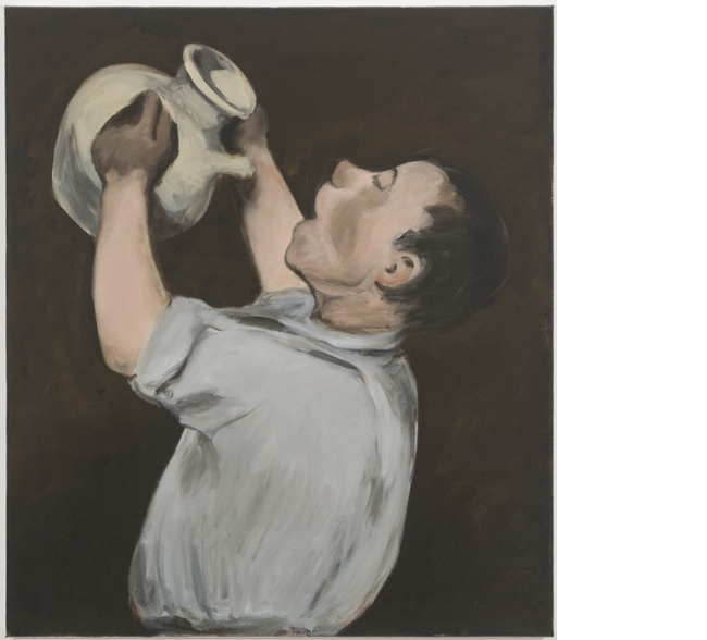 Untitled (Boy with Pitcher, after Manet), 2008/2013 oil on canvas 24 x 21 inches