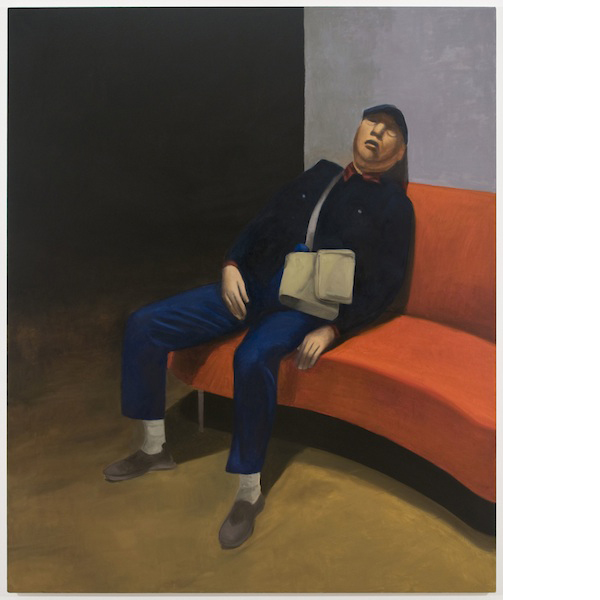 Untitled (Paris, sleeping), 2014 oil on canvas 72 x 60 inches
