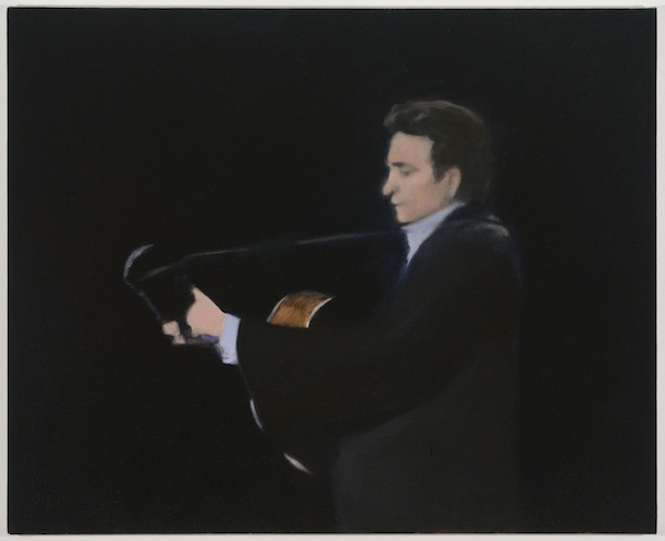Untitled (The Guitar Player), 2013-2014 oil on canvas 26 x 32 inches