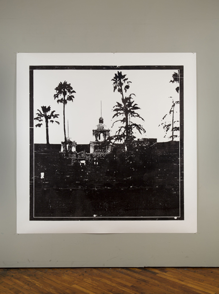 Hotel California, 2014 ink on paper 66 x 66 inches