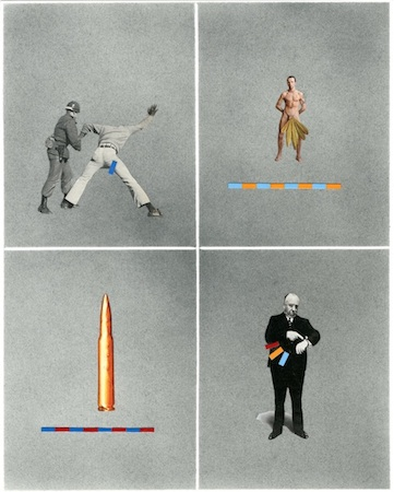 Nils Karsten Measurements, 2013 graphite and collage on paper 14 x 11 inches