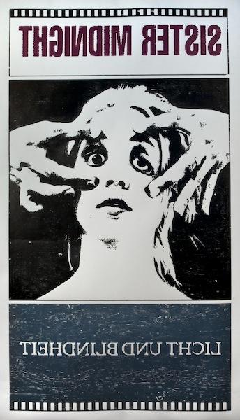 Licht und Blindheit, 2012 woodblock print 110 x 64 inches