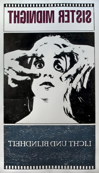 Sister Midnight, 2012 woodblock print 110 x 64 inches