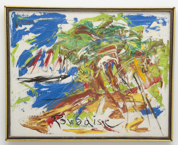 Paradise, 1987 oil on canvas in wooden frame 29 x 23 1/4 inches photo: Clayton Patterson