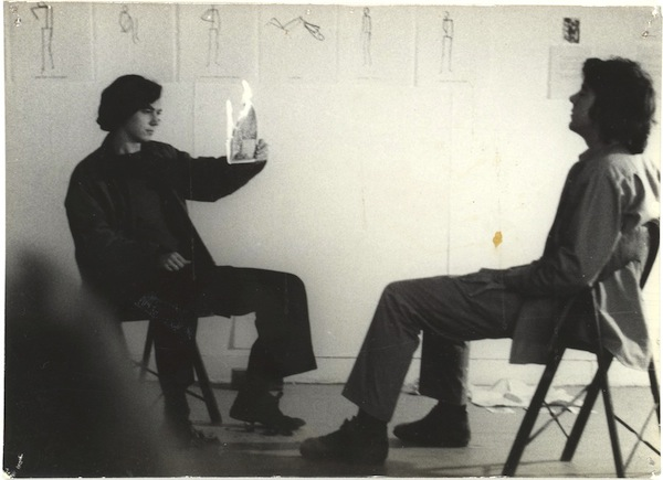 Paul McMahon and Matt Mullican performing at Project Inc., 1972