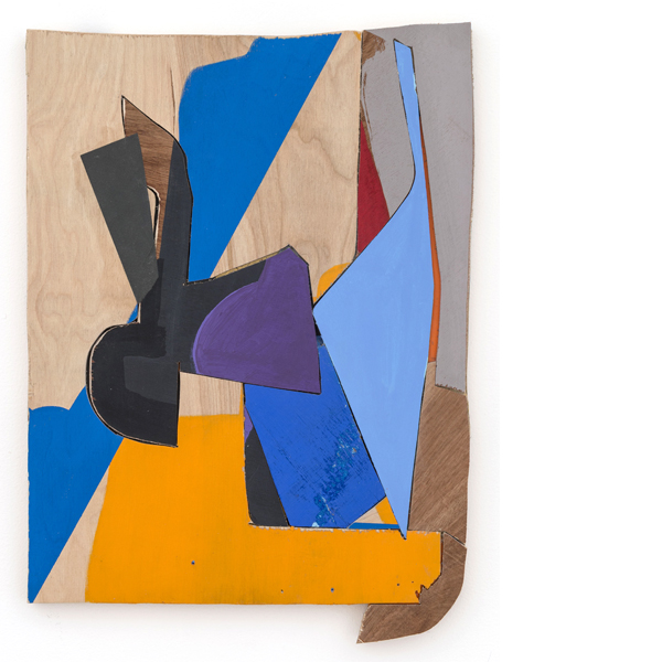 Untitled (Little Bear 3), 2013 acrylic paint, paper, archival glue, and wood 19 x 13 7/8 inches