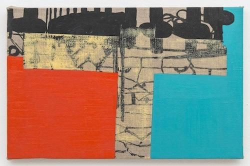 Lisi Raskin Untitled, 2014 acrylic on linen 11 x 17 inches