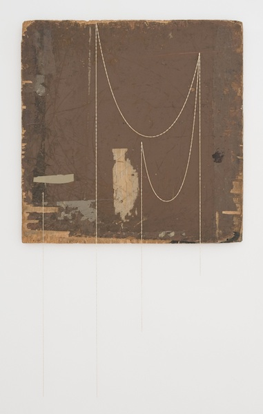 Marc Swanson Untitled, 2013 wood, chain, and tape 23 3/4 x 23 3/4 inches