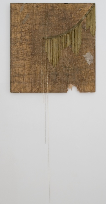 Marc Swanson Untitled, 2013 wood, chain, and metal fringe 22 1/4 x 23 inches