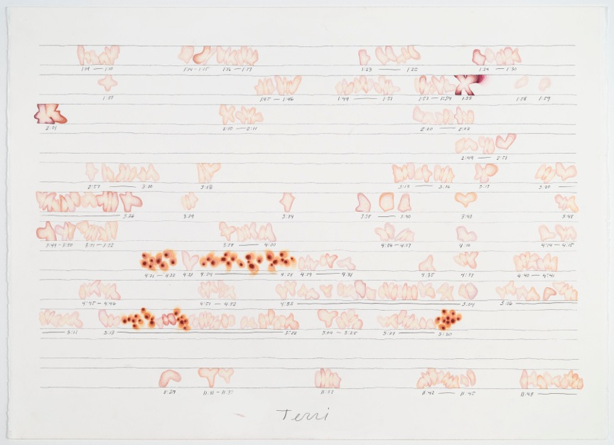 Ander Mikalson Terri(1), 2014 watercolor and graphite on paper, 2 sheets 22 x 30 inches