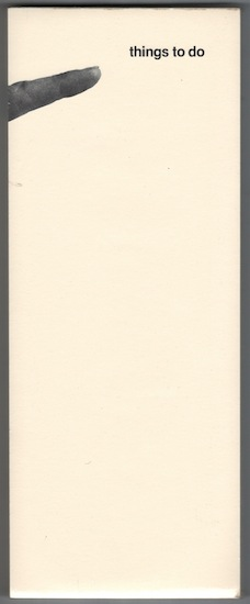 Wooster Enterprises Things To Do Note Pad, 1973 10 1/4 x 4 inches