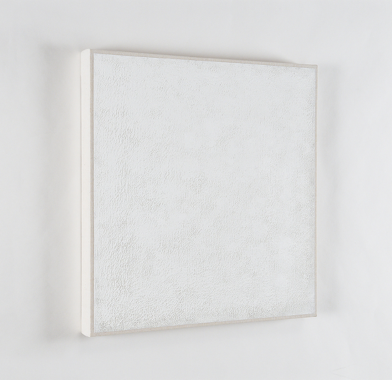 Untitled #3, 2009-2012 oil on cotton 13 7/8 x 13 3/4 inches