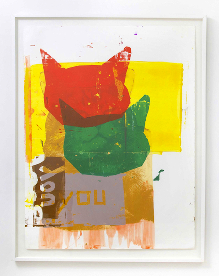 Annette Wehrhahn No You Decide 2012 polymer on paper 38 x 50 inches