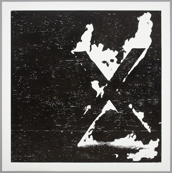 X, 2012 ink on paper 66 x 66 inches