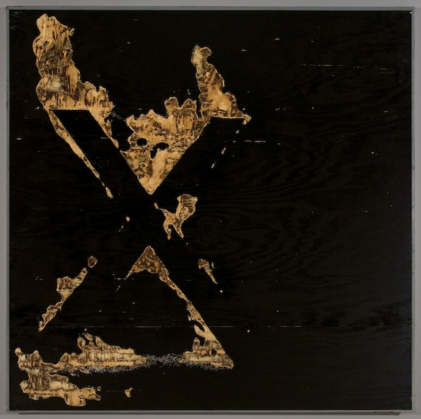 X, 2012 ink on plywood 60 x 60 inches